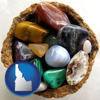 idaho an assortment of polished gemstones
