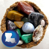 louisiana an assortment of polished gemstones