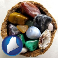 maine an assortment of polished gemstones
