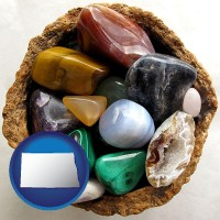 north-dakota an assortment of polished gemstones
