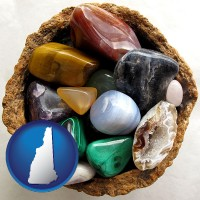 new-hampshire an assortment of polished gemstones