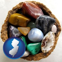 new-jersey an assortment of polished gemstones