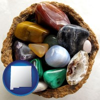 new-mexico an assortment of polished gemstones