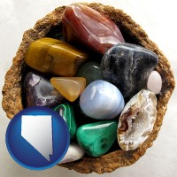 nevada an assortment of polished gemstones