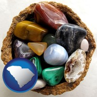 south-carolina an assortment of polished gemstones