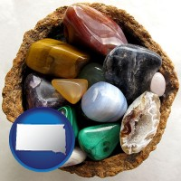 south-dakota an assortment of polished gemstones