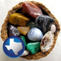 texas an assortment of polished gemstones