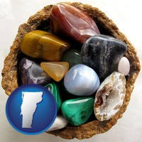 vermont an assortment of polished gemstones