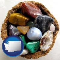 washington an assortment of polished gemstones